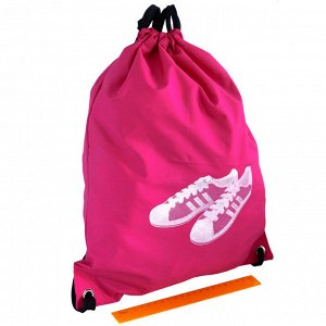 Новый мешок для обуви,  33х41 (дхв, см), розовый, цветочный орнамент,  материал: оксфорд.