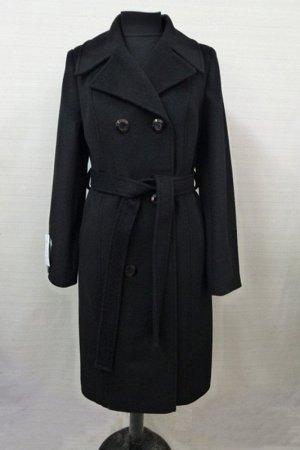 Пальто демисезонное полушерсть 44р черное