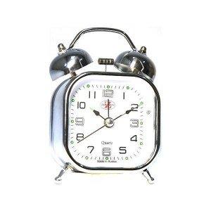 Будильник Тип механизма: Кварцевый Корпус: Латунь Минеральное стекло ГАБАРИТЫ (В\Ш\Г) : 110-75-50 (мм.)