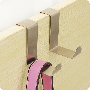 Крючки на дверь двусторонние, 2 шт, стальные