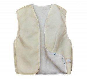 Меховая жилетка подкладка в куртку, размер 116-122 см