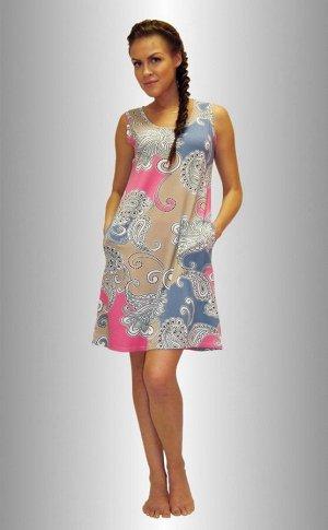 Летнее платье из вискозы р46