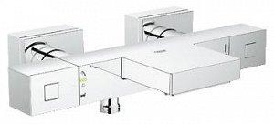 Термостат Термостат GROHE Eurocube для ванны и душа настенный монтаж GROHE StarLight хромированная поверхность GROHE SafeStop стопор безопасности при 38°C GROHE SafeStop Plus опционно ограничитель тем