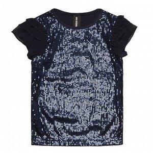 Блузка-футболка с пайетками на 122 см фото замеры