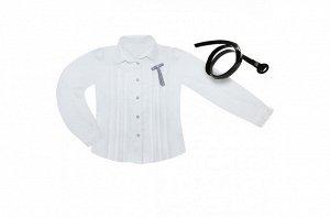 Блузка с длинными рукавами в комплекте с ремешком