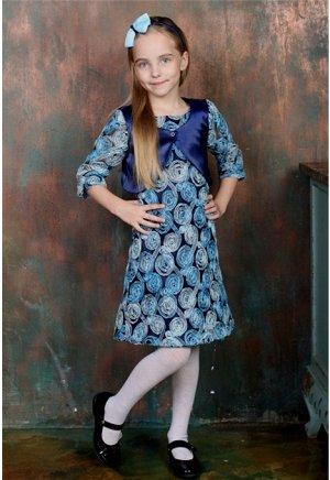 Платье с болеро «Розы-3D» Код товара: 77-043
