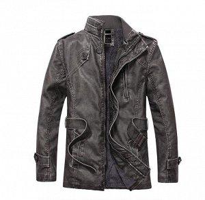 """Куртка мужская утепленная, на стройных и высоких, цвет """"мокрый асфальт"""""""