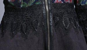 дубленка дубленка осенняя роспись по ткани, кружево.
