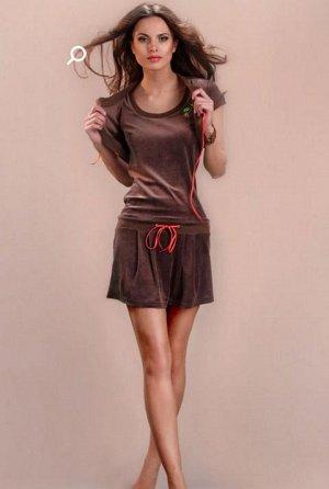 велюровое платье с болеро