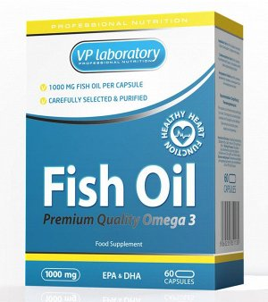 Omega-3 VP Lab Fish Oil 1000мг-60 капсул