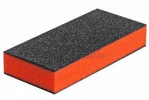 Баф для ногтей зауженный оранжевый 100/120 грит Planet Nails