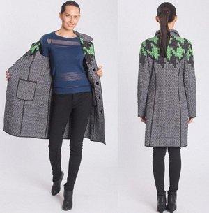 Пальто просто прелесть.( ДВУХСТОРОННЕЕ)    42-44 размер (с синими вставками) ДВА В ОДНОМ.