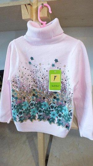 Розовый свитер  на рост 128-130 ( 7- 8 лет)