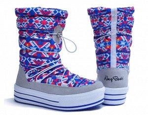 Новые теплые зимние женские сапоги - дутики King Boots, р. 41, Распродажа