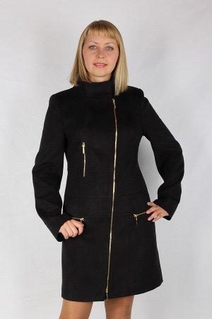Стильное черное пальто  размера 50-52.