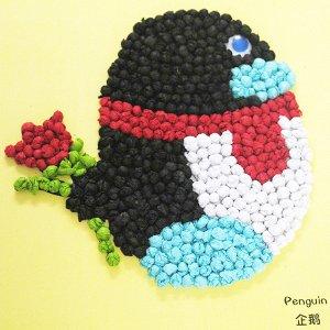 Пингвин с цветком