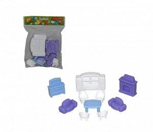 Набор мебели для кукол №3 (10 элементов) (в пакете)