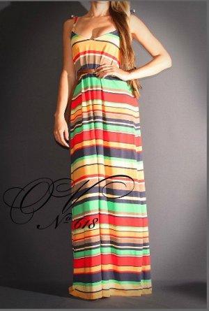 Платье Длинное полосатой платье-сарафан, длина-макси Материал: трикотаж вискоза 100%