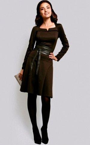 Платье цвет коричнево-шоколадный