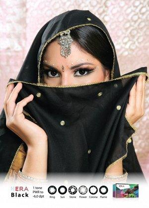 Декоративные цветные контактные линзы (Dreamcon) HERA Black Dioptr (2 линзы)