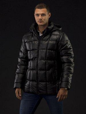 Куртка зимняя мужская Merlion Рауль-2 экокожа (черный) 3XL