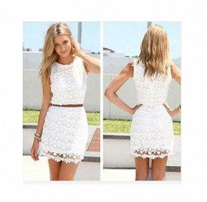 Кружевное белое платье, добавила реальное фото