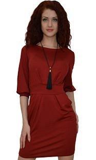 Платье трикотаж бордовое