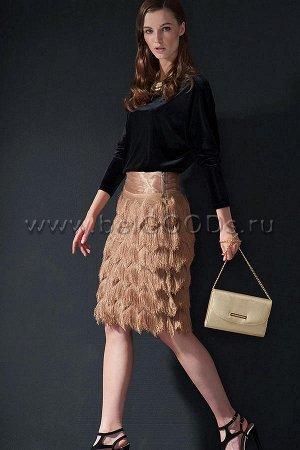 Золотистая праздничная юбка Balunova