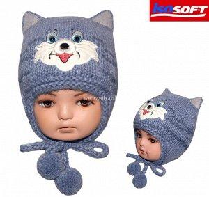 Очень теплая шапка для малыша.