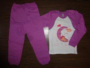 Пижама детская для девочек с начесом