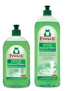 FROSCH для мытья посуды 1 л. Зелёный лимон