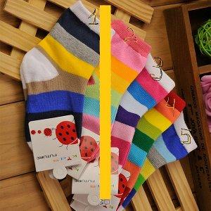 Носки в полоску разноцветные