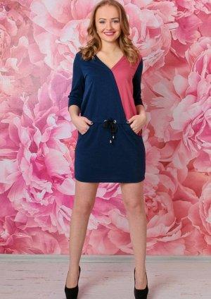 Платье Платье с заниженной талией, карманами и кулисой арт. ГШ-7. Состав: Милано однотонное (вискоза 65%, полиэстр 30%, лайкра 5%).