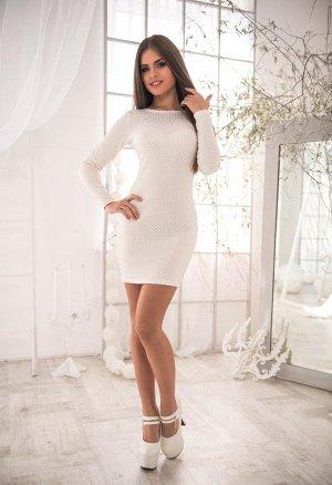 Платье женское белое с золотом