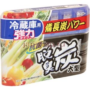 """114306 """"ST"""" """"Dashshuutan"""" Желеобразный дезодорант с древесным углем """"Бинчотан"""" для холодильника (основная камера) 240 г. 1/24"""