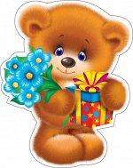 "Украшение на скотче ""Медведь с цветами"""