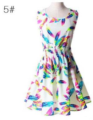 Платье цветное
