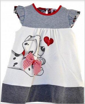 Платье с щенком