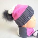 Комплект шапка и шарф. Шапка двойная, Подклад флис
