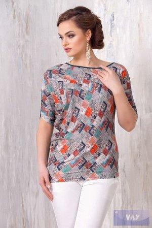 Блузка из вискозы ассиметричная