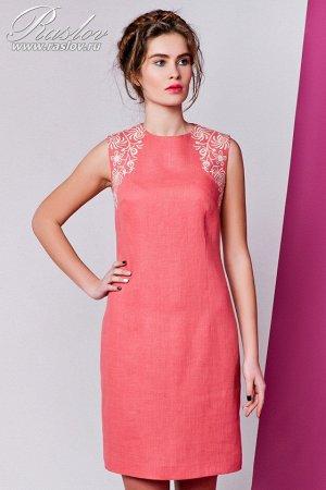 Красивое льняное платье