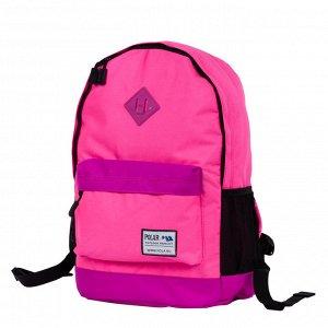 Рюкзак 29 х 43 х 18  Вместительный городской рюкзак фирмы Polar имеет мягкую поролоновую спинку и мягкие лямки. Рюкзак имеет одно отделение, которое закрывается на молнию. Внутри карман на молнии и от