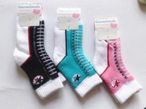 Носки махровые в нарисованной шнуровкой