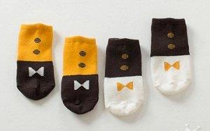 Носки  со стопперами двухцветные