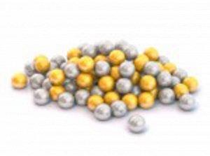 Шарики диам. 6 см. 100 шт.цвет золотой и серебряный ,сетка  тм Нордпласт