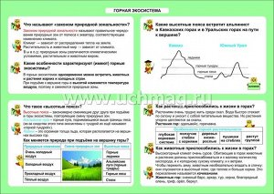 ФГОС,Окружающий мир. Горная экосистема. 1-4 классы.,Таблица-плакат 420х297,(Формат А3 свернут в А5)
