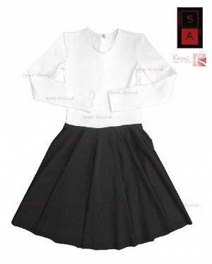 Гимнастический купальник Г 36-302 ХБ/ПА Black&white