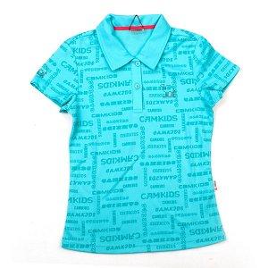 Рубашка поло БИРЮЗОВЫЙ на рост примерно 146