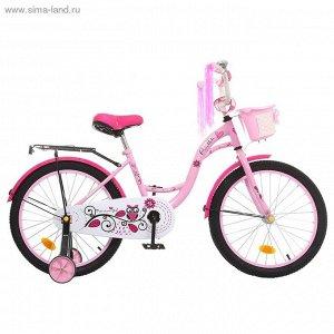 """Велосипед двухколесный 20"""" GRAFFITI Premium Girl, цвет: розовый"""