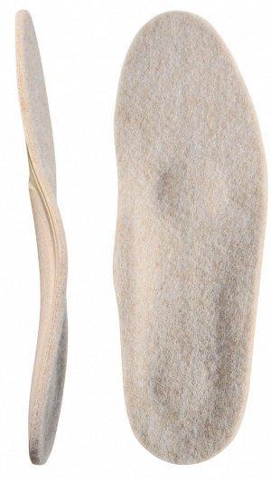 Каркасные ортопедические стельки с покрытием из натуральной шерсти (уп. пара)